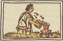 femme aztèque et maïs